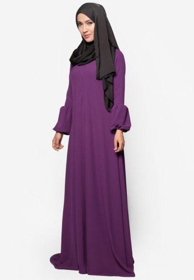 Jubah Qhadeeja Dark Purple