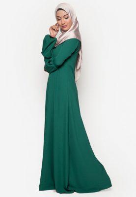 Jubah Qhadeeja Emerald Green