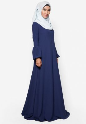 Jubah Qhadeeja Navy Blue