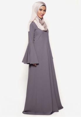 Jubah Rania Dark Grey