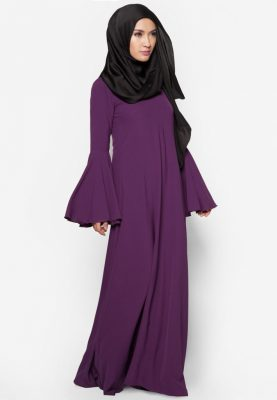 Jubah Rania Dark Purple