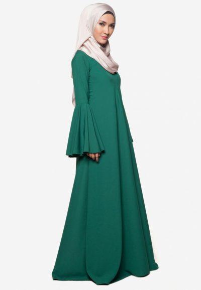 Jubah Rania Emerald Green